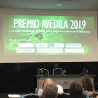 Entrega premios en el XXIV Simposio AVEDILA celebrado en Pamplona